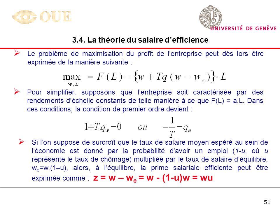 3.4. La théorie du salaire d'efficience