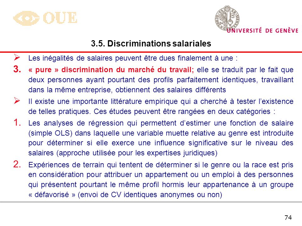 3.5. Discriminations salariales