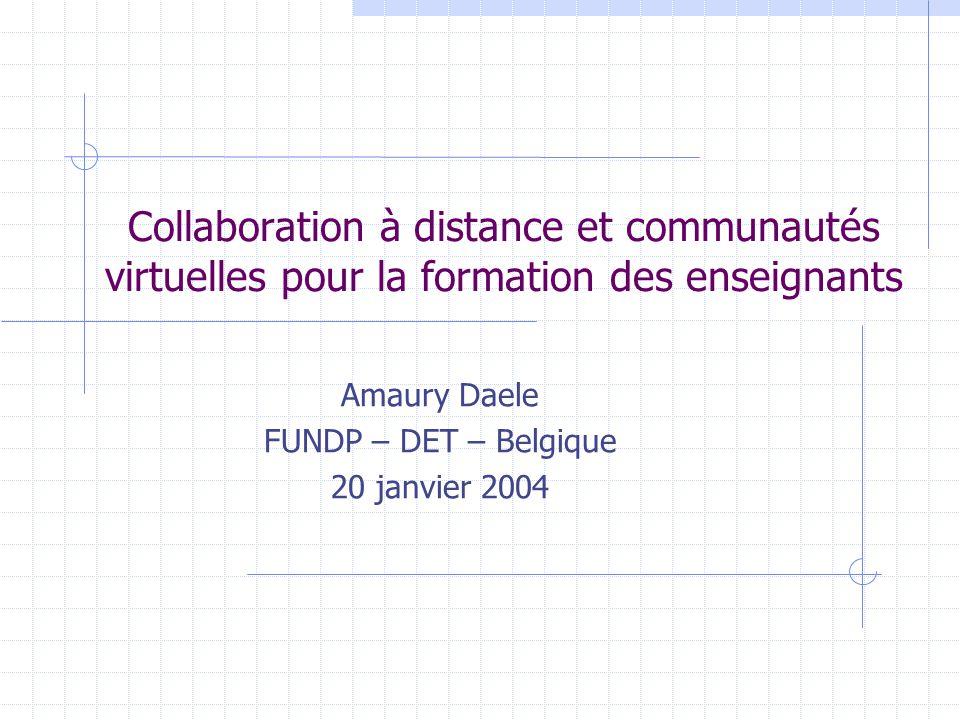 Amaury Daele FUNDP – DET – Belgique 20 janvier 2004