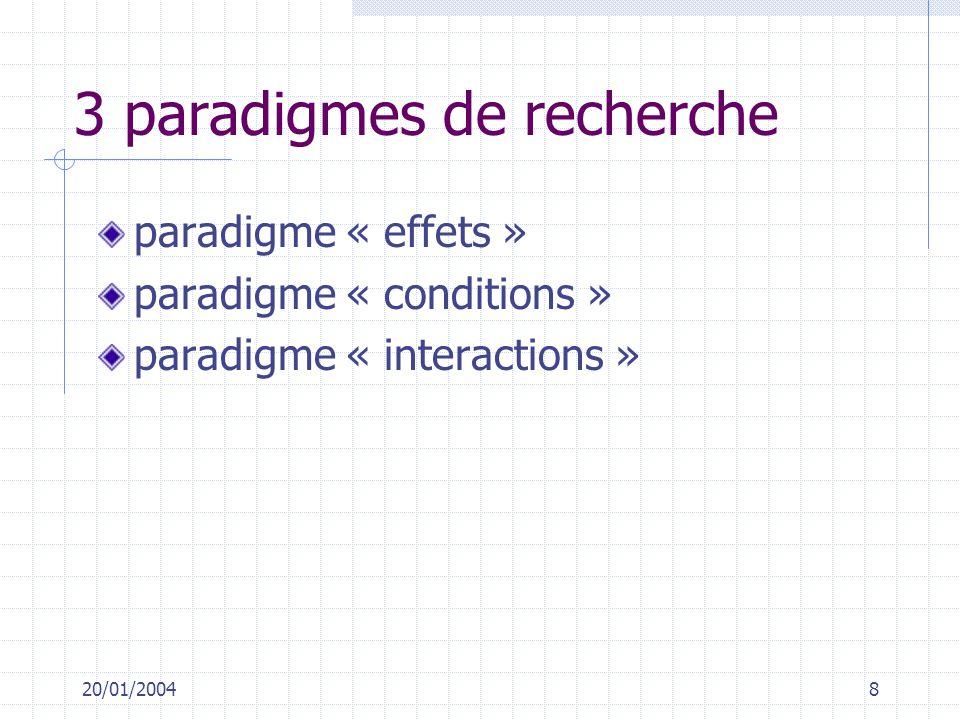 3 paradigmes de recherche