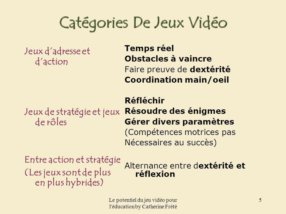 Catégories De Jeux Vidéo