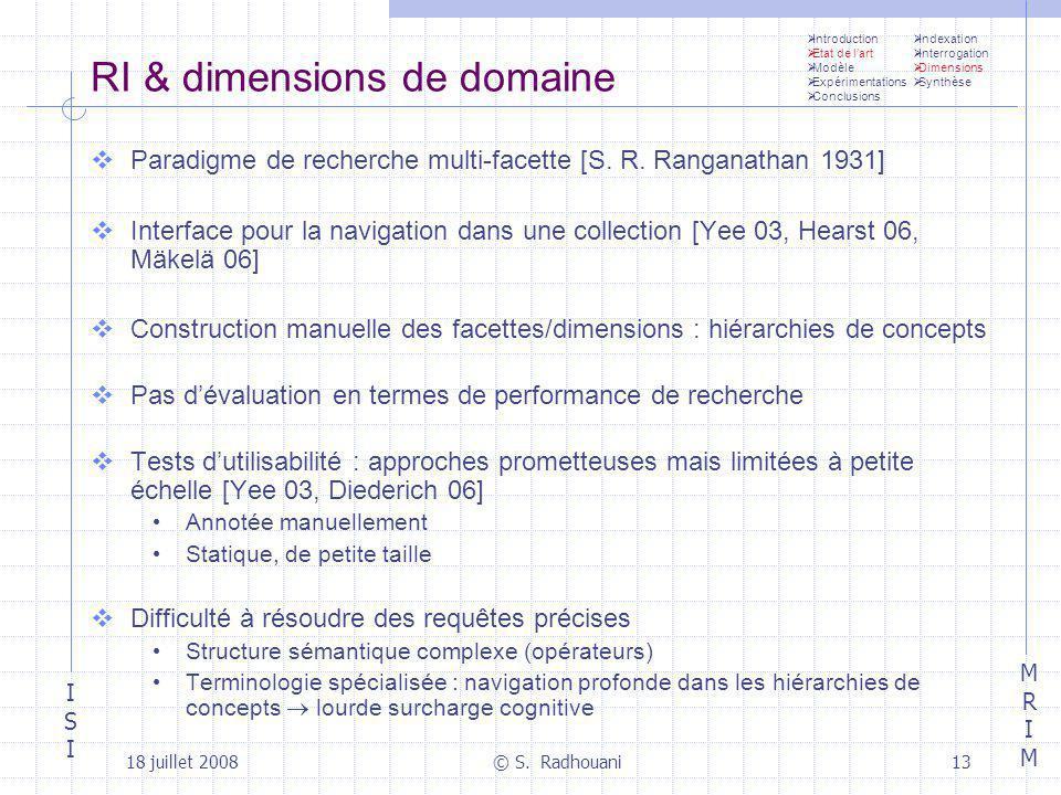 RI & dimensions de domaine