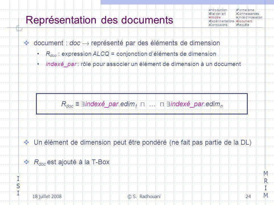 Représentation des documents