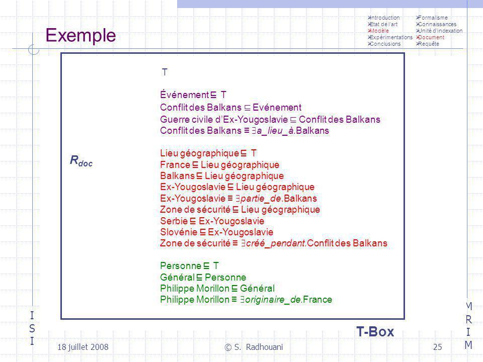 Exemple T-Box edim1 ≡ Philippe Morillon
