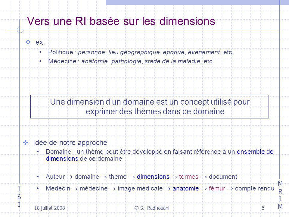 Vers une RI basée sur les dimensions