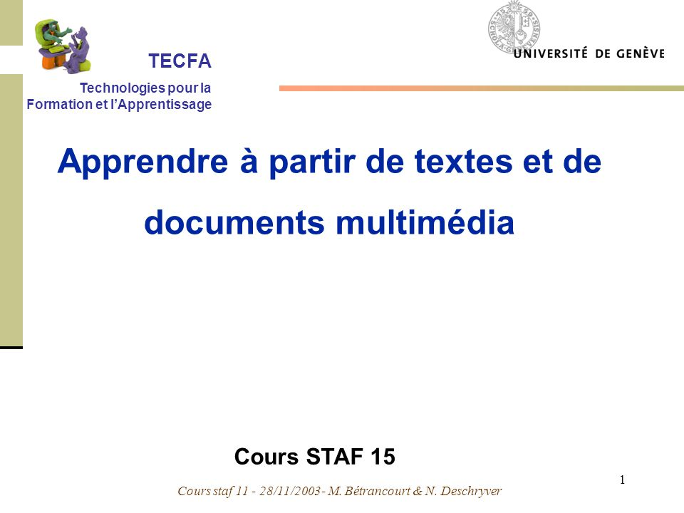 Apprendre à partir de textes et de documents multimédia