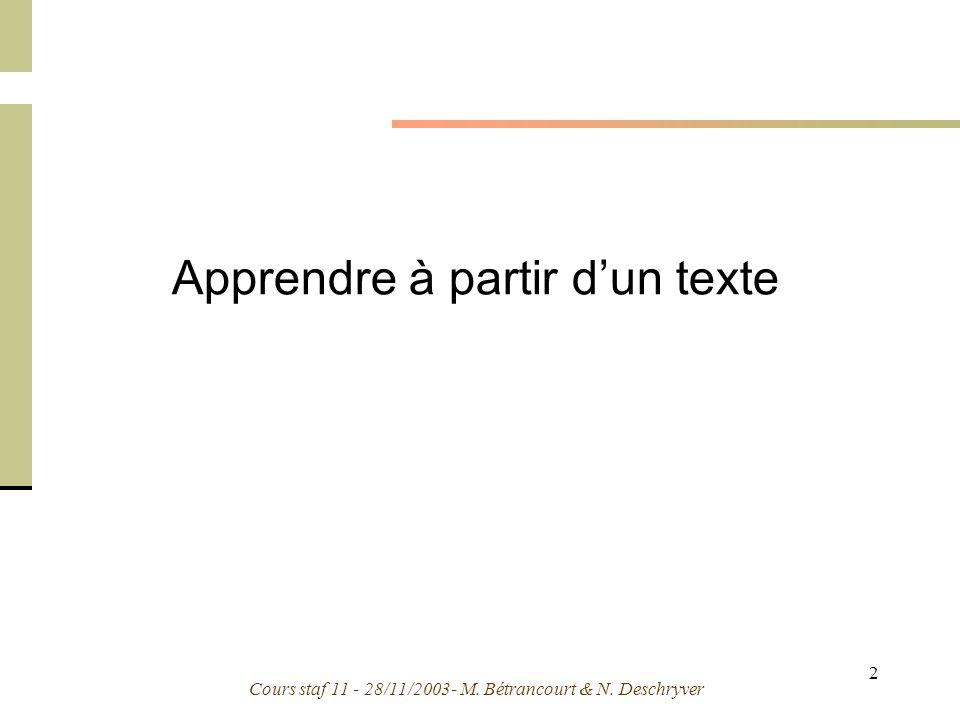 Apprendre à partir d'un texte