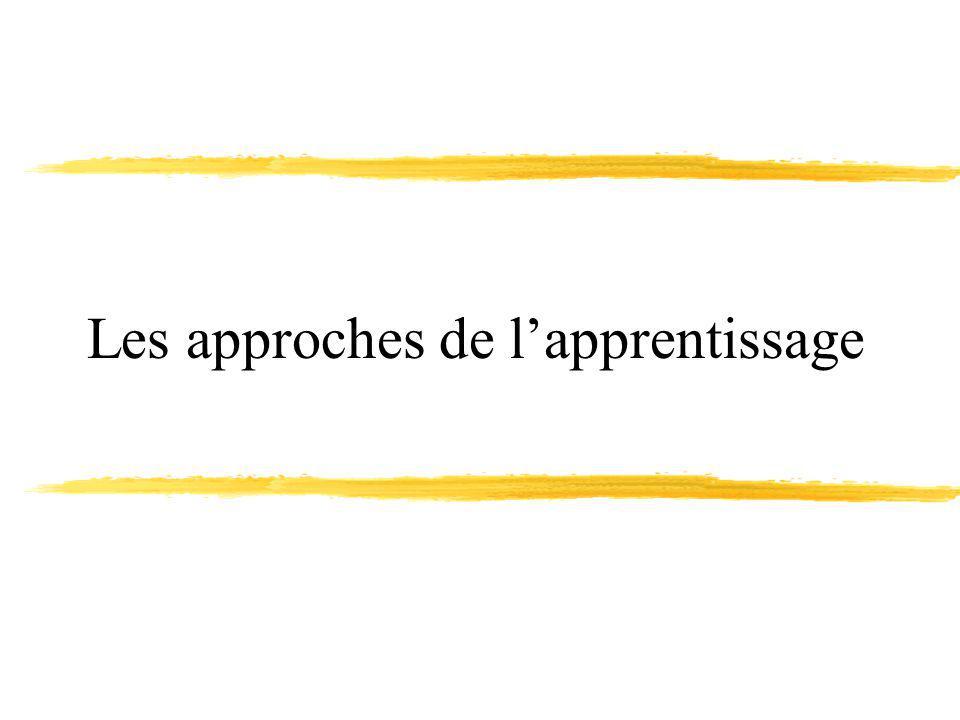 Les approches de l'apprentissage