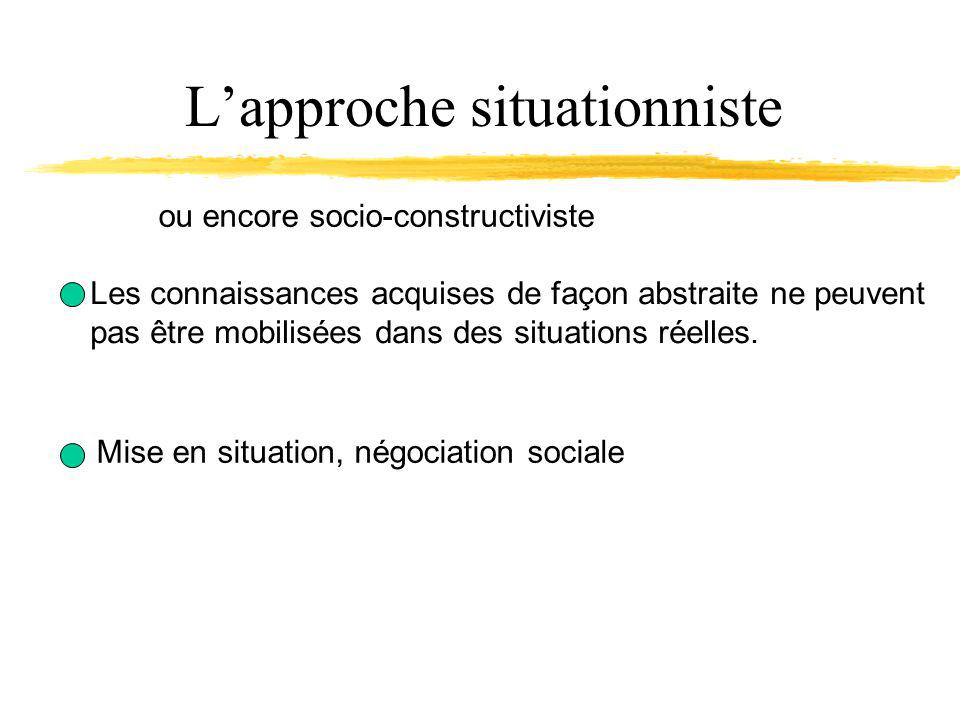 L'approche situationniste
