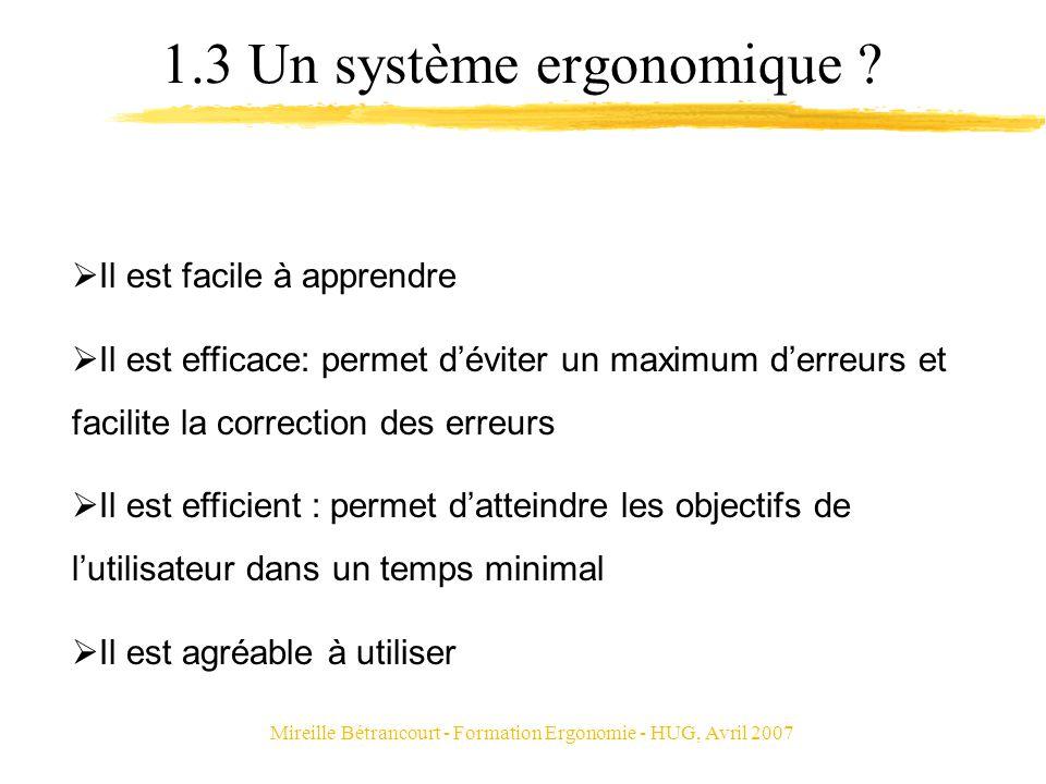 1.3 Un système ergonomique