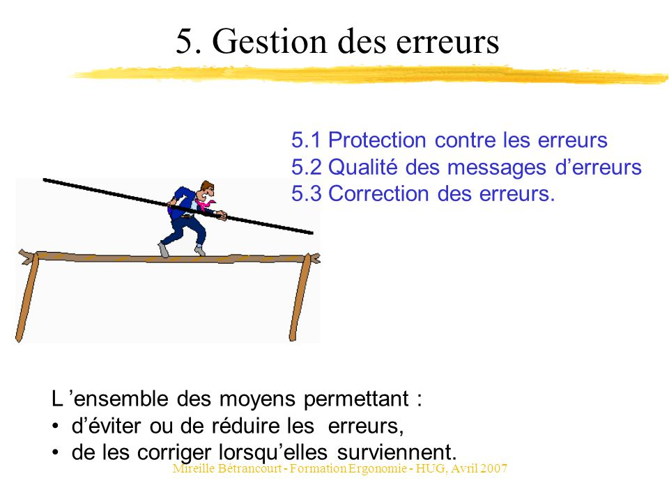 Mireille Bétrancourt - Formation Ergonomie - HUG, Avril 2007