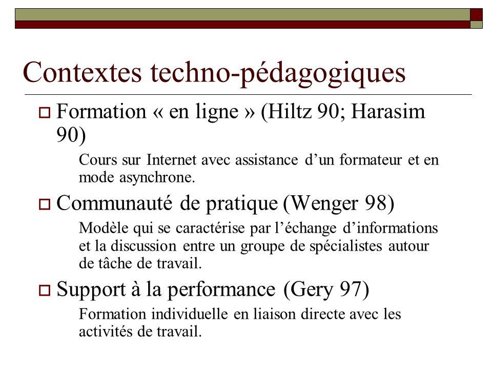 Contextes techno-pédagogiques