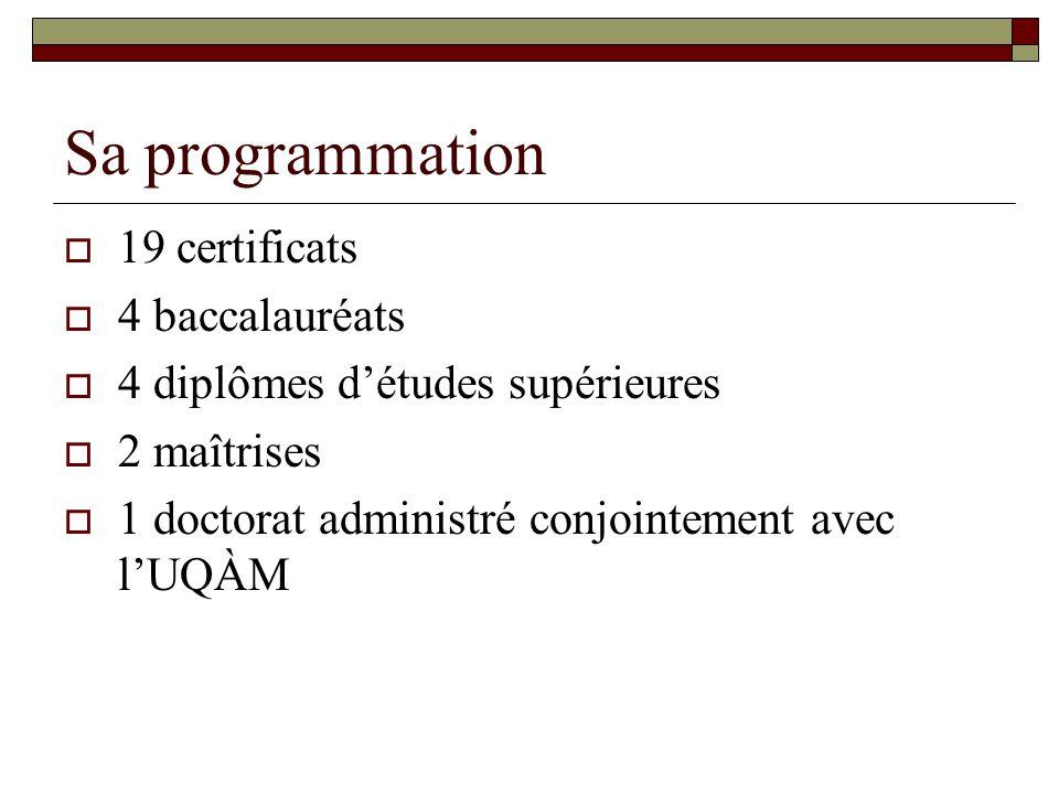 Sa programmation 19 certificats 4 baccalauréats