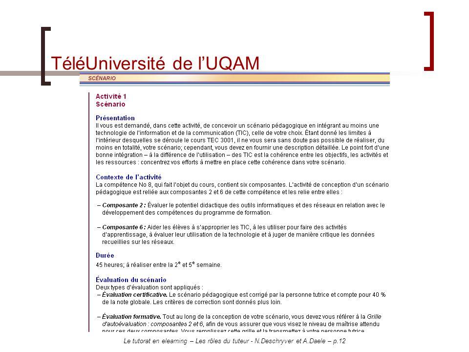 TéléUniversité de l'UQAM