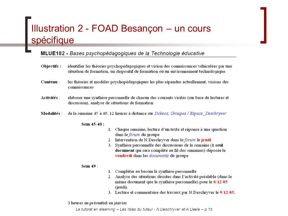 Illustration 2 - FOAD Besançon – un cours spécifique