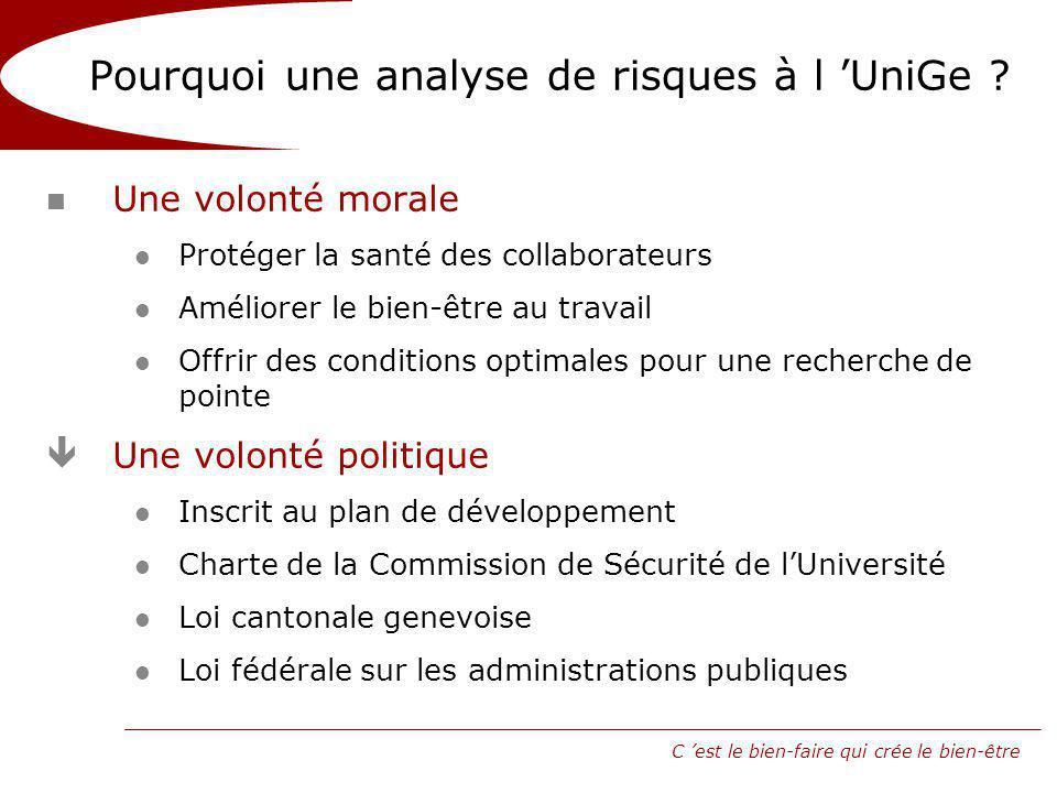 Pourquoi une analyse de risques à l 'UniGe