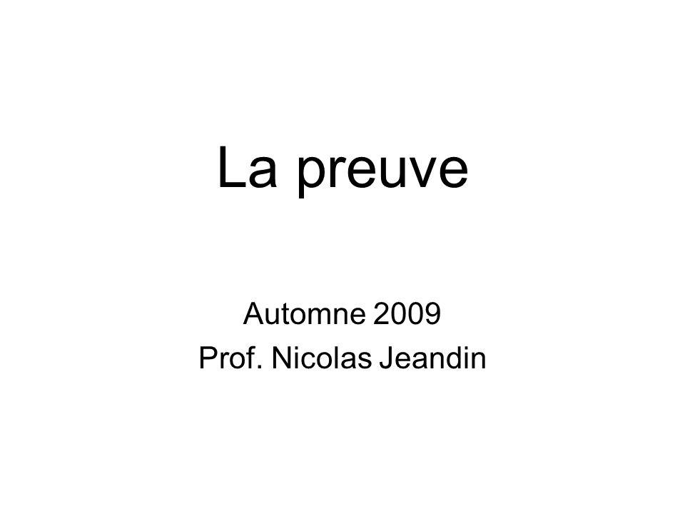 Automne 2009 Prof. Nicolas Jeandin
