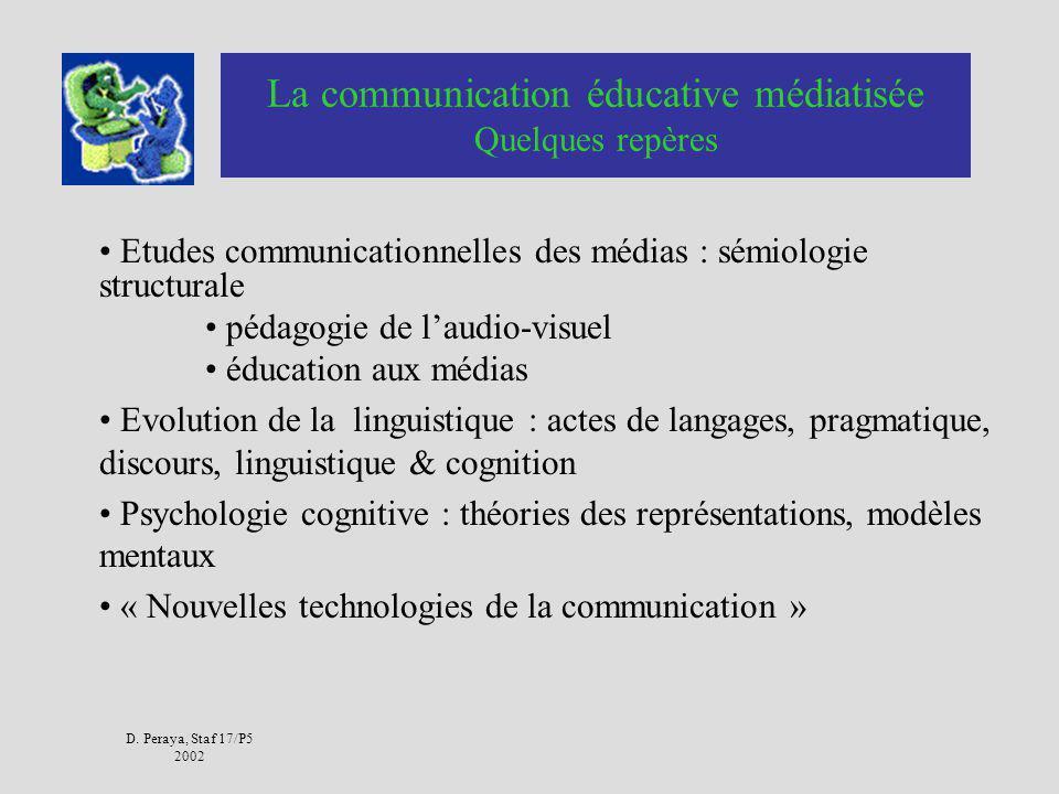 La communication éducative médiatisée Quelques repères