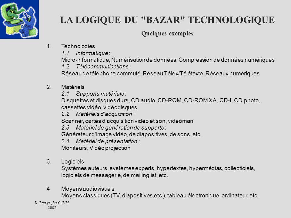 LA LOGIQUE DU BAZAR TECHNOLOGIQUE