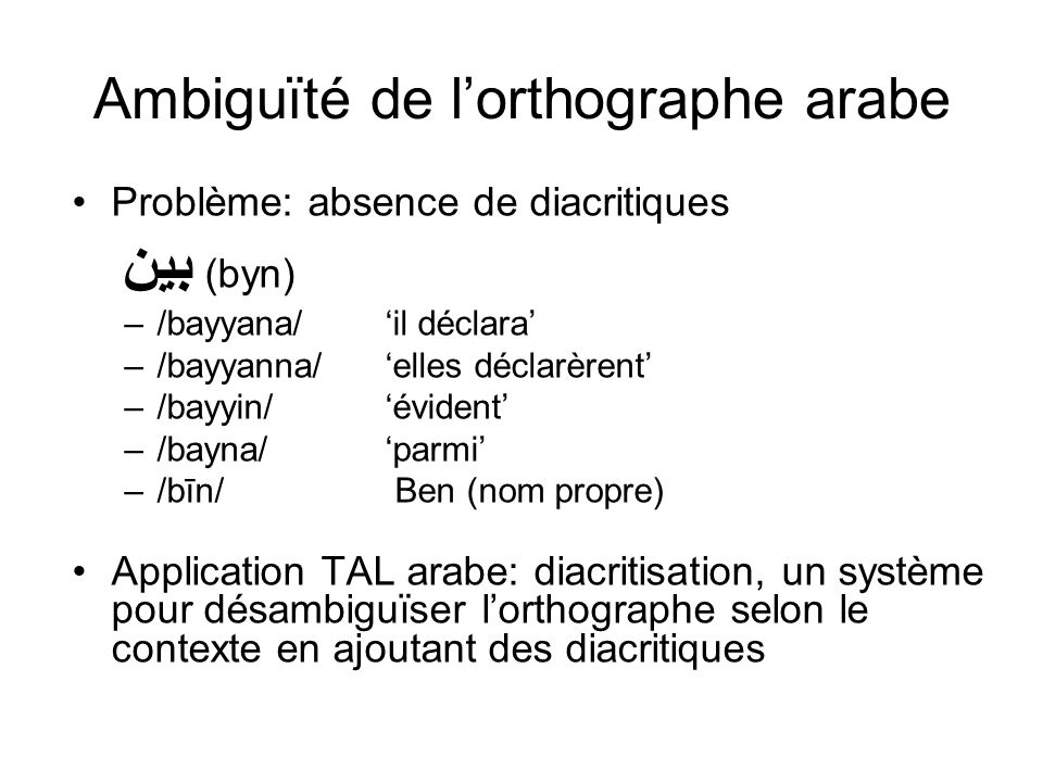 Ambiguïté de l'orthographe arabe