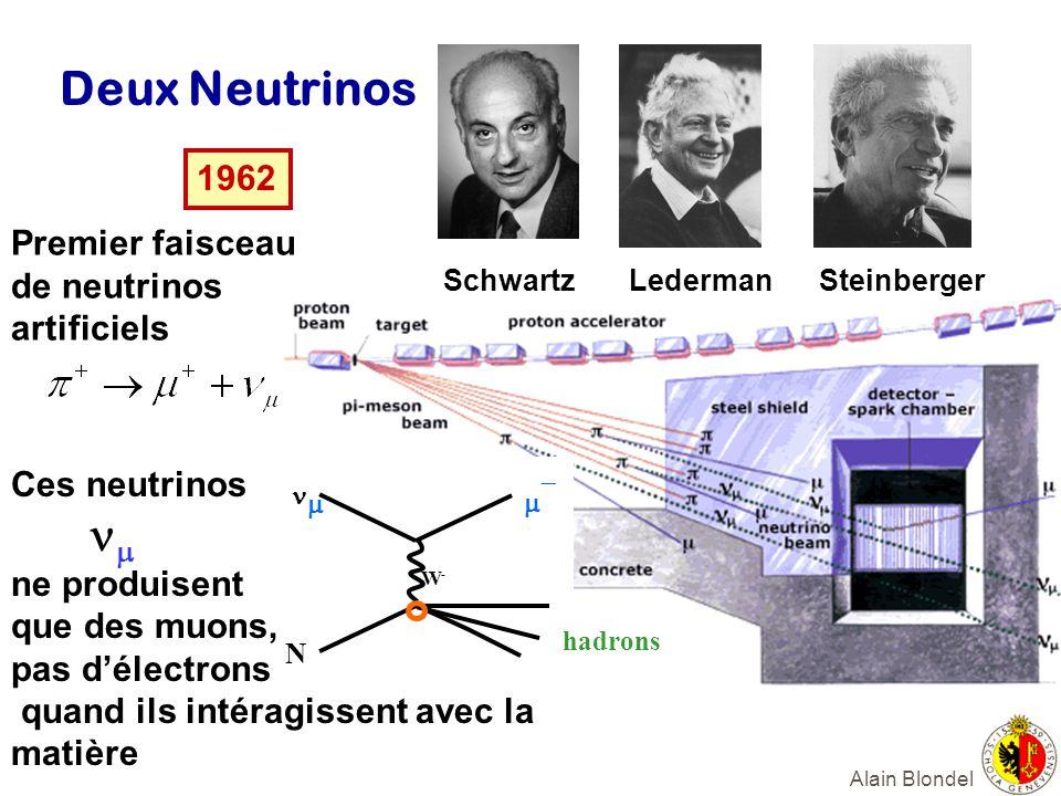 Deux Neutrinos m- hadrons 1962