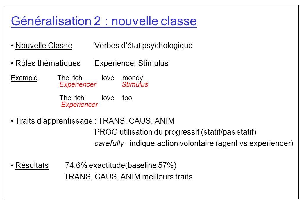 Généralisation 2 : nouvelle classe