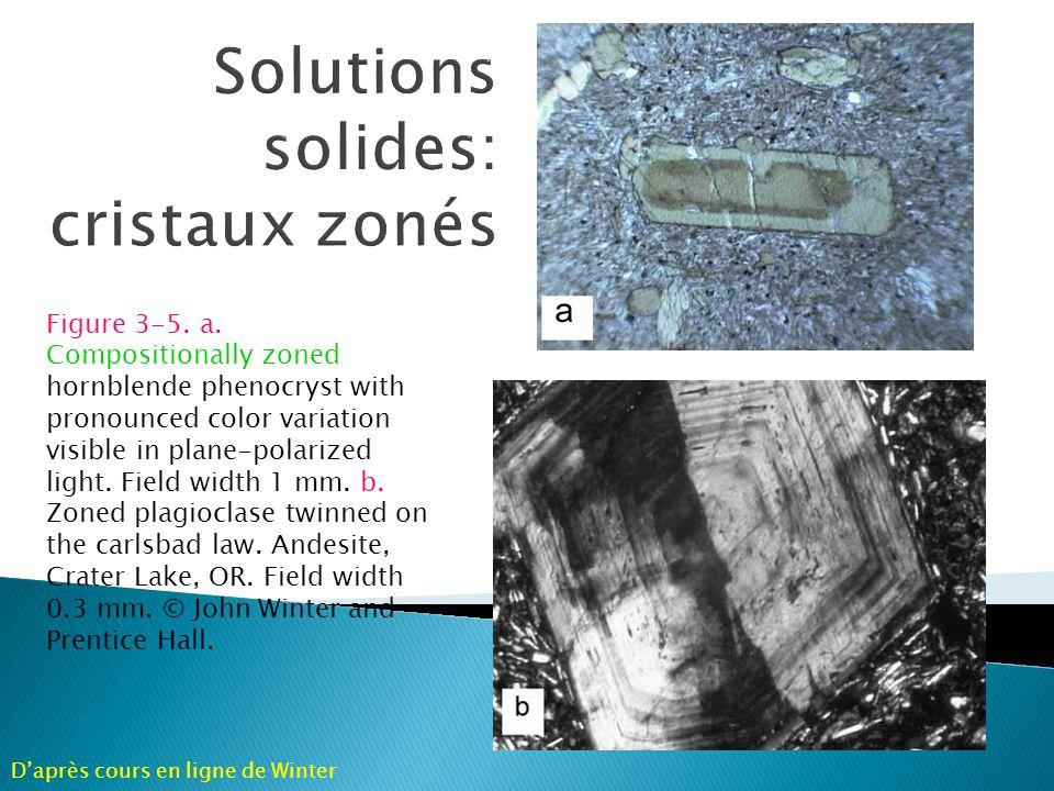 Solutions solides: cristaux zonés