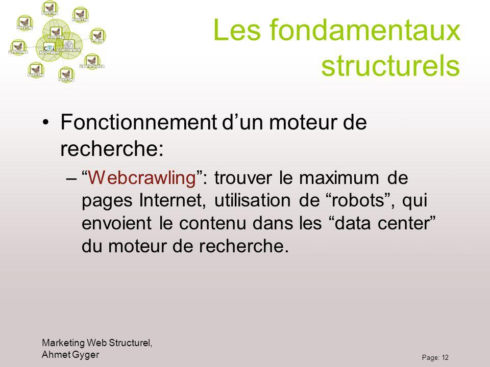 Les fondamentaux structurels