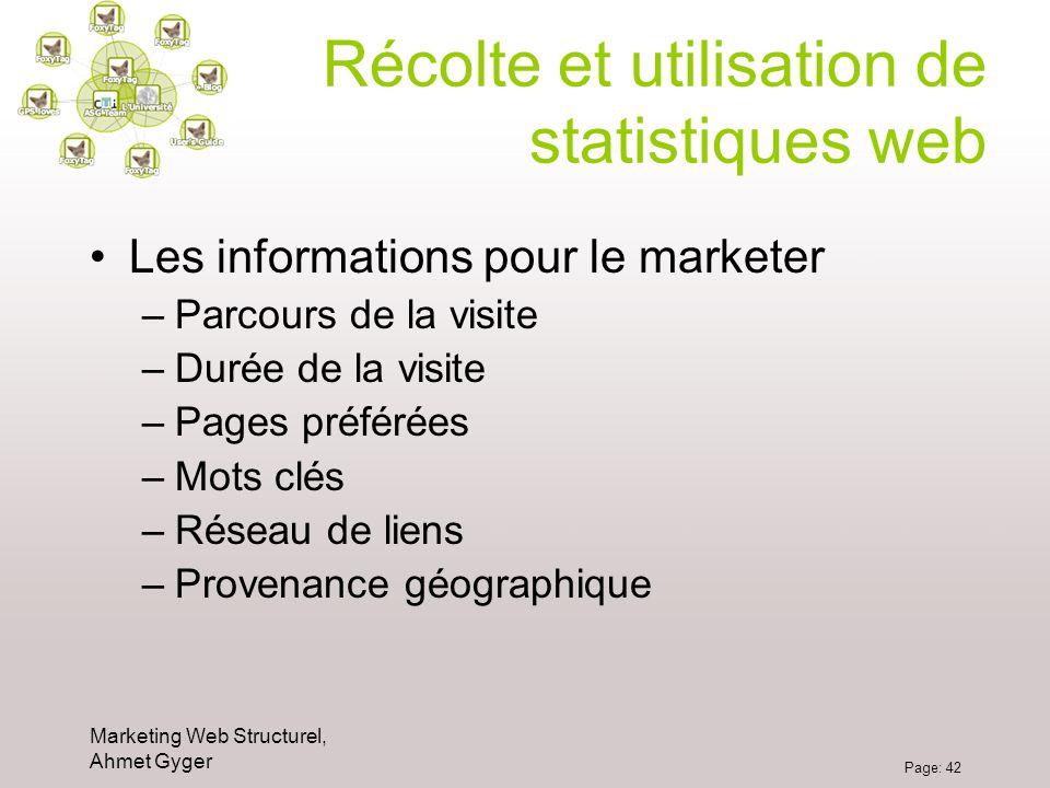 Récolte et utilisation de statistiques web
