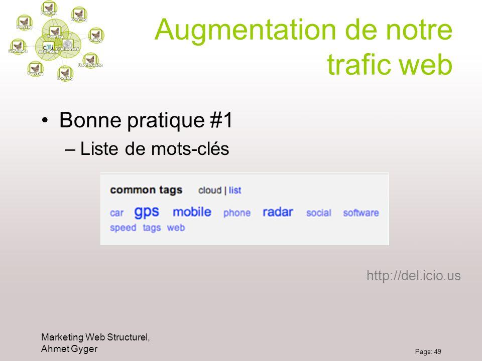 Augmentation de notre trafic web