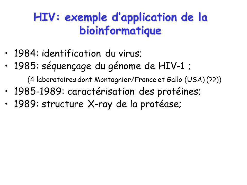 HIV: exemple d'application de la bioinformatique