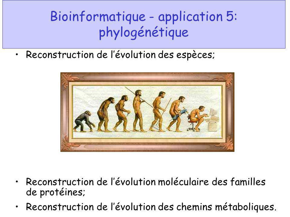 Bioinformatique - application 5: phylogénétique