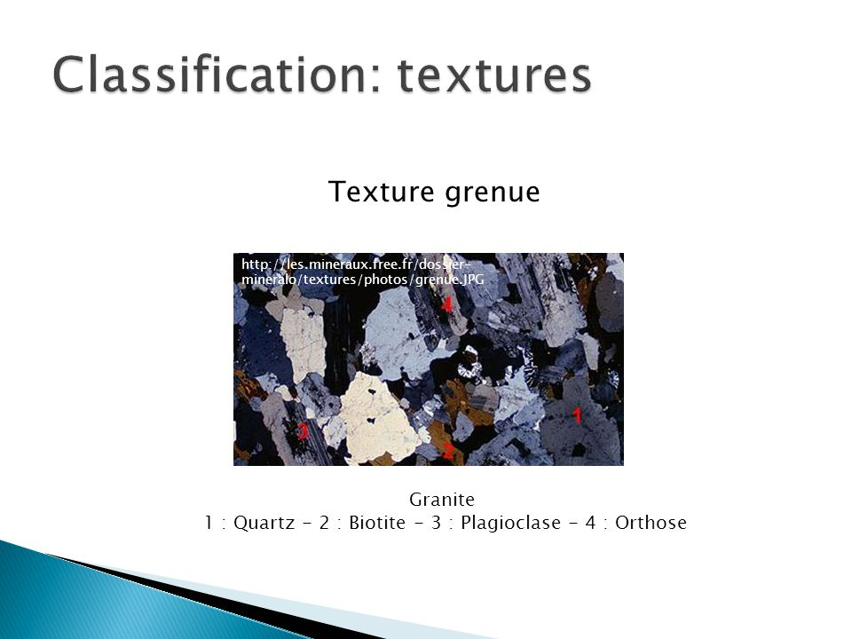 Classification: textures