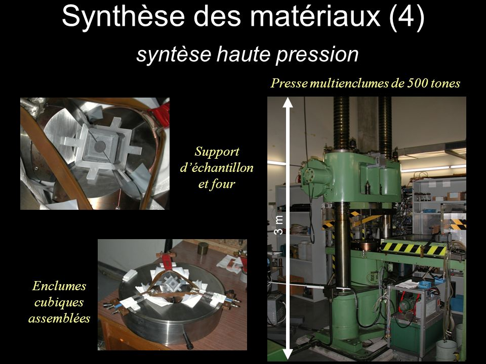 Synthèse des matériaux (4) syntèse haute pression