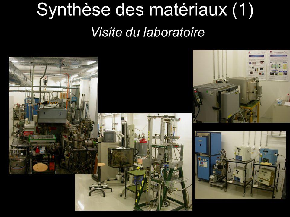 Synthèse des matériaux (1) Visite du laboratoire