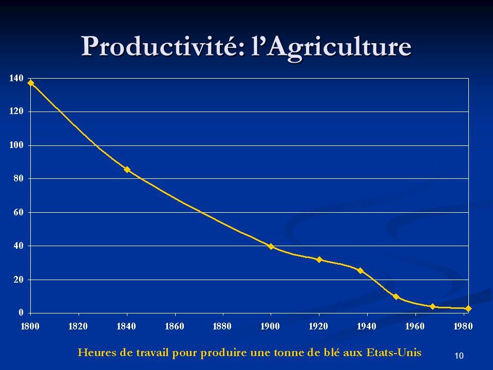 Productivité: l'Agriculture
