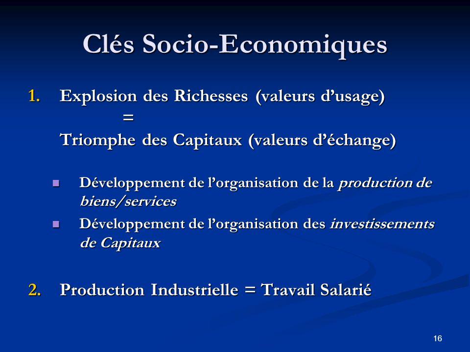 Clés Socio-Economiques
