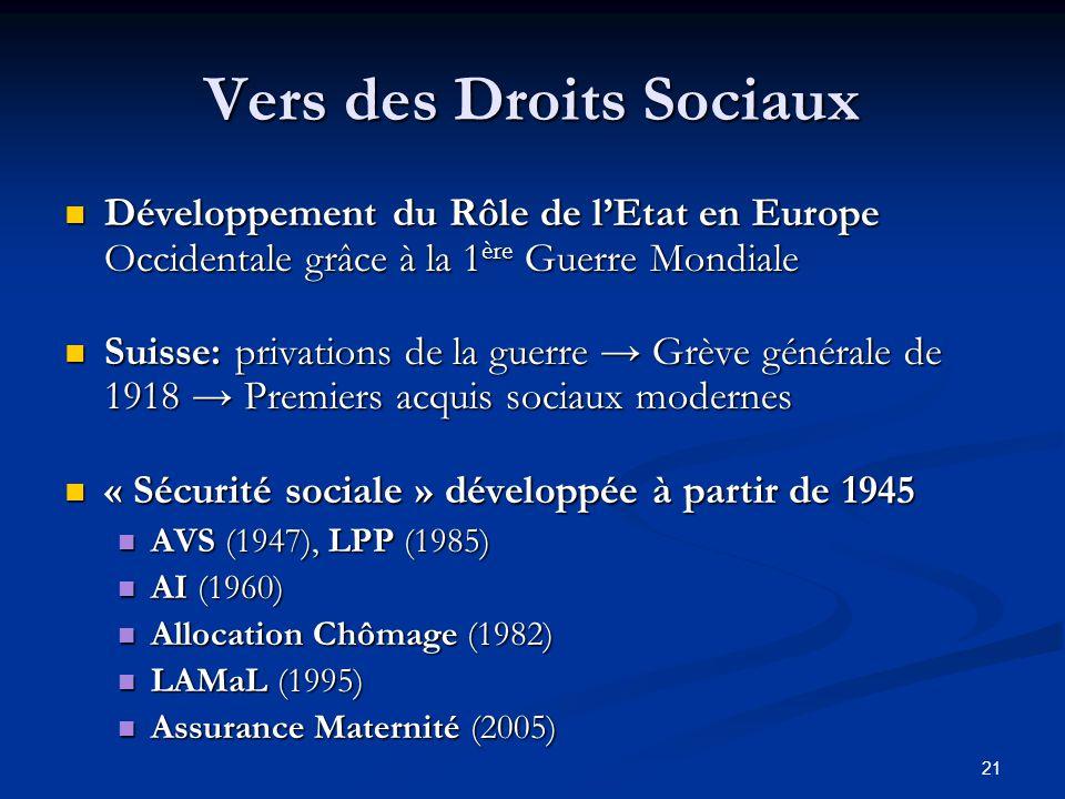 Vers des Droits Sociaux