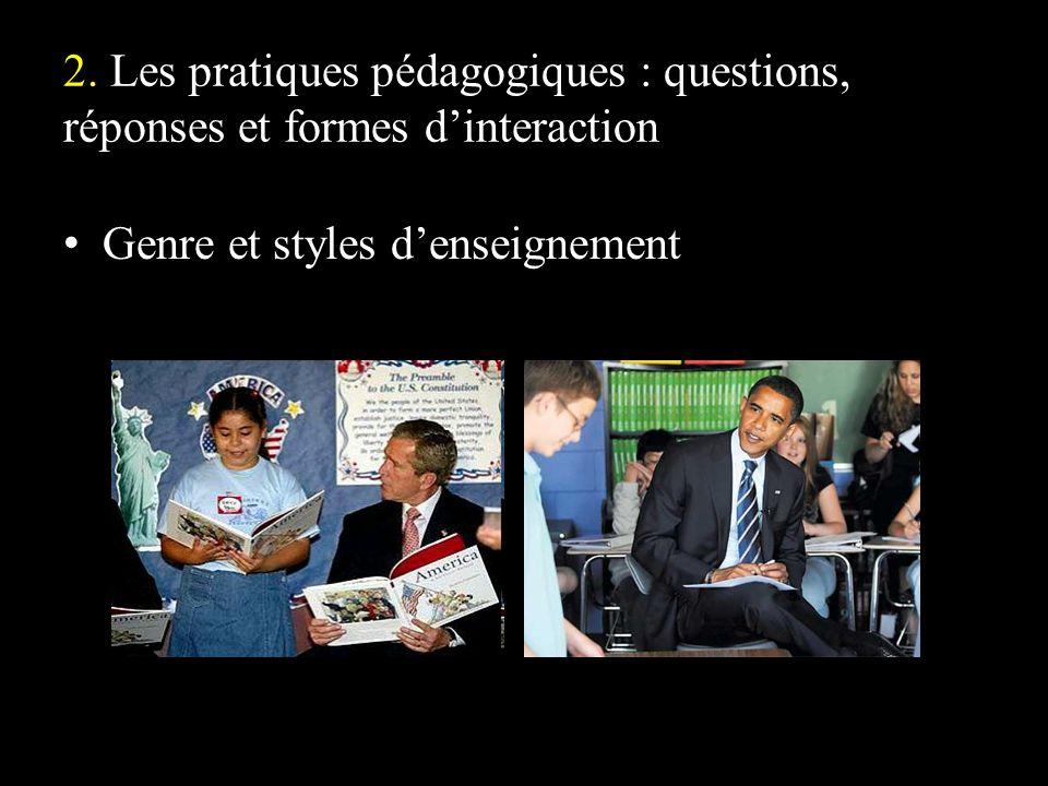 Genre et styles d'enseignement