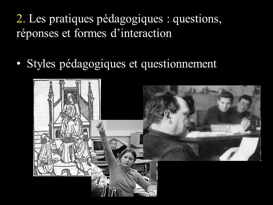 Styles pédagogiques et questionnement