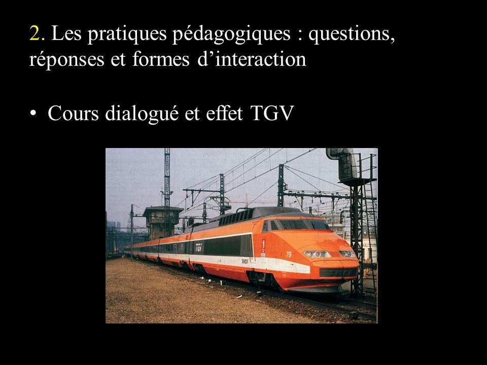 Cours dialogué et effet TGV
