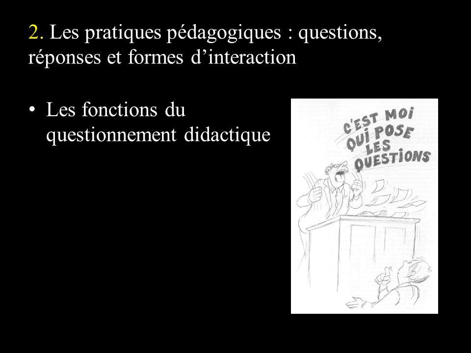 Les fonctions du questionnement didactique