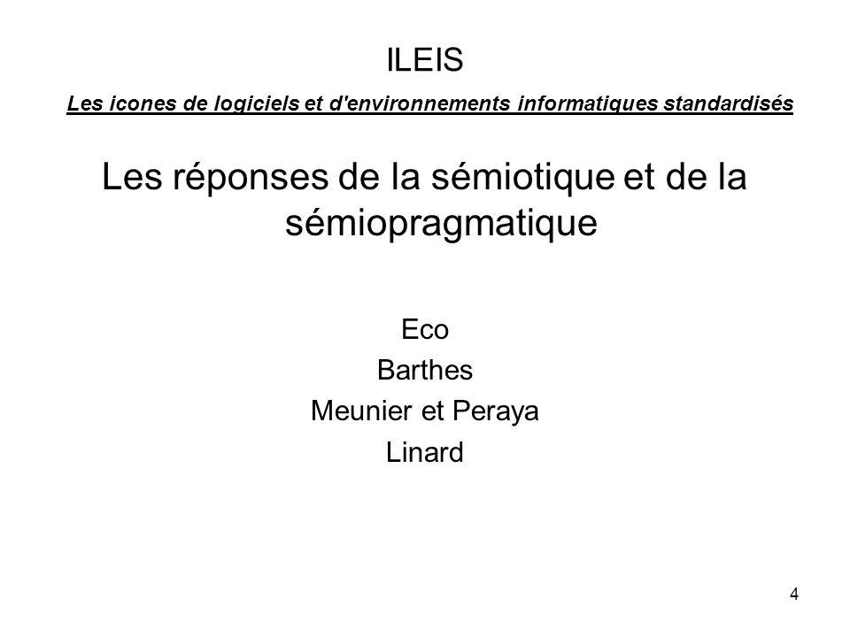 Les réponses de la sémiotique et de la sémiopragmatique