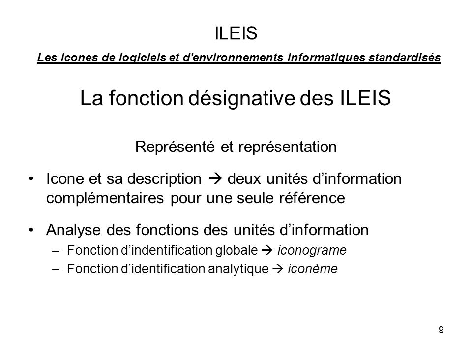 La fonction désignative des ILEIS