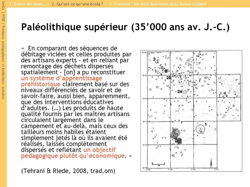 Paléolithique supérieur (35'000 ans av. J.-C.)