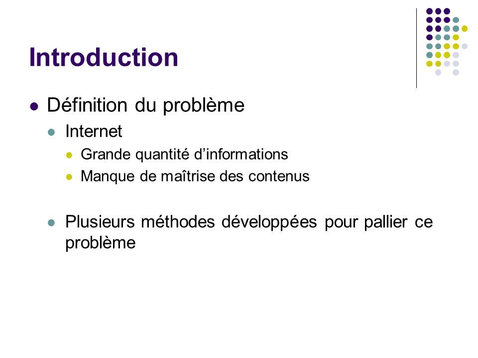 Introduction Définition du problème Internet