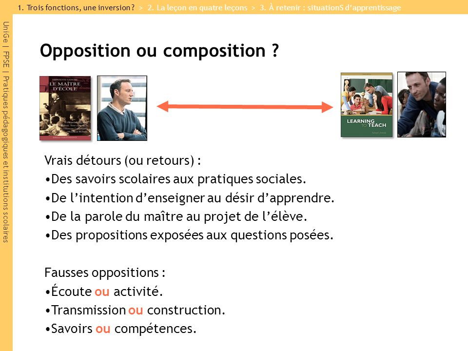 Opposition ou composition