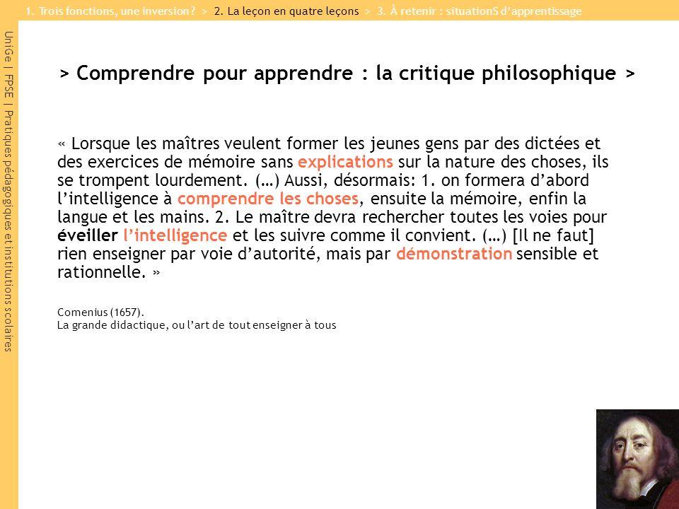 > Comprendre pour apprendre : la critique philosophique >