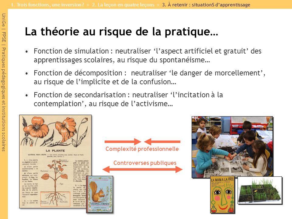 La théorie au risque de la pratique…