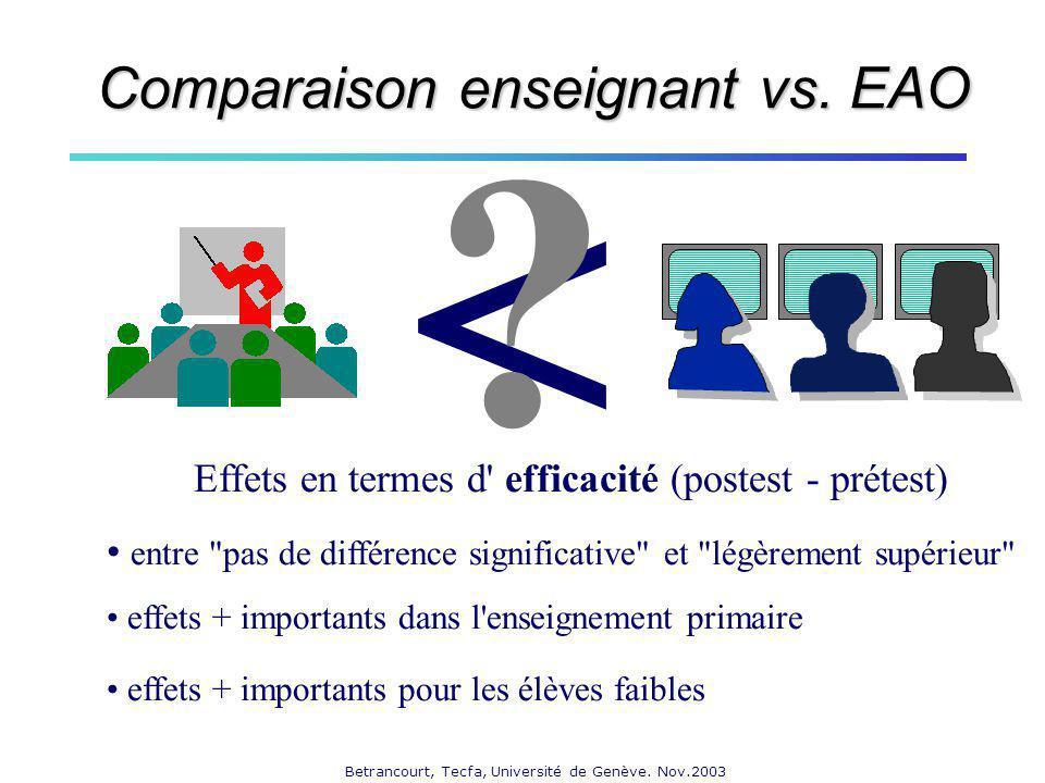 < Comparaison enseignant vs. EAO